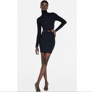 Zara Black CUT-OUT Mini DRESS 161/mq